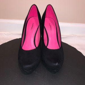 X-Appeal Black Platform Heel